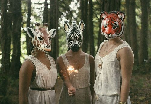 Image result for animal mask people