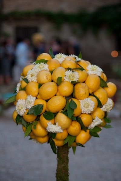 Italian flower design for weddings in Italy