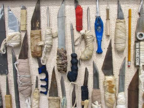 Shank collection found in prison searches