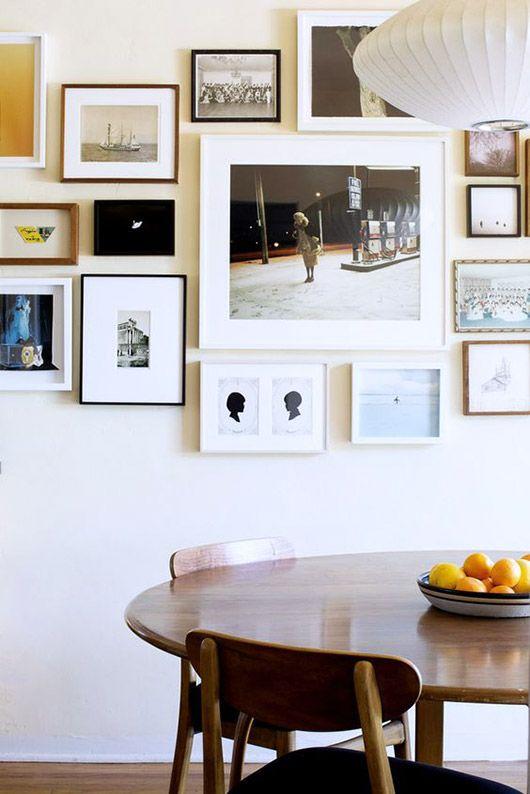 dining room art gallery wall. / sfgirlbybay