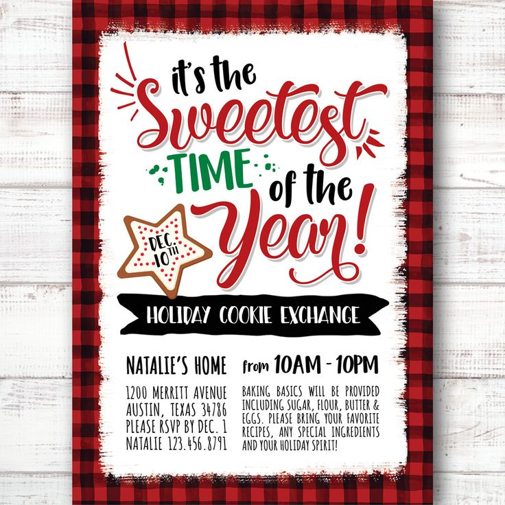 20 best Holiday Cookie Exchange Invitations images on Pinterest ...
