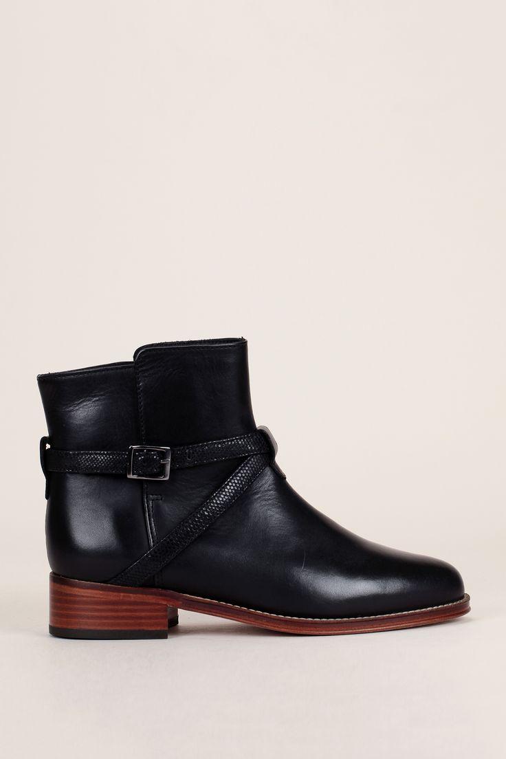 best 25+ bottines cuir noir ideas on pinterest | boots femme cuir
