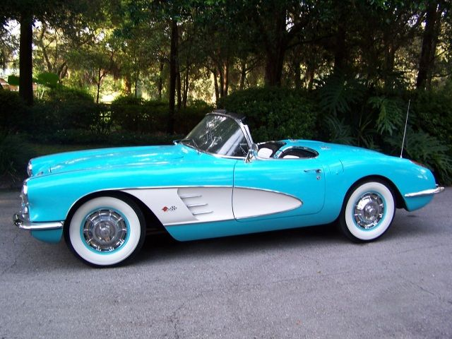 1959 Turquoise Corvette Convertible -..Re-pin..Brought to you by #CarInsurance at #HouseofinsuranceEugene