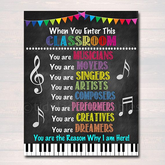 Music Teacher Classroom Printable Poster, Classroom Decor Drama Teacher Performing Arts, Music In This Classroom Rules Sign INSTANT DOWNLOAD