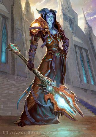 Paladine protectrice des portes de la tour de la guilde de magie blanche