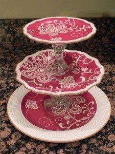 DIY Tiered Plates & 70 best DIY TIERED PEDESTALS images on Pinterest   Porcelain Cake ...