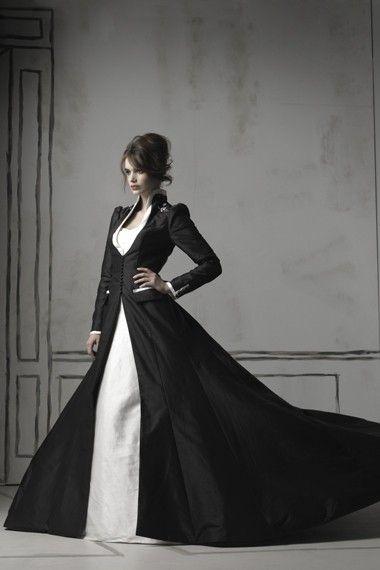 Wow. Black wedding dress. Cool.