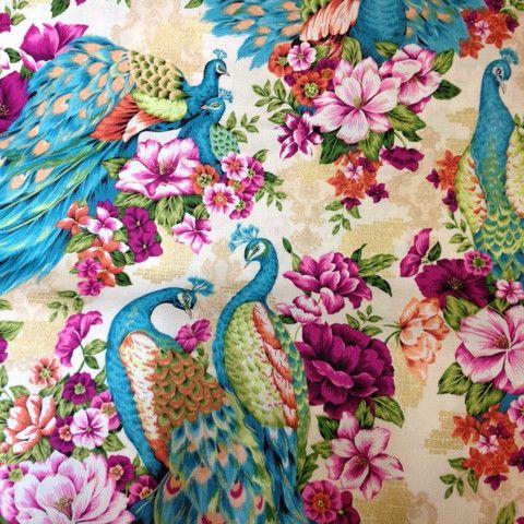 peacock fabric