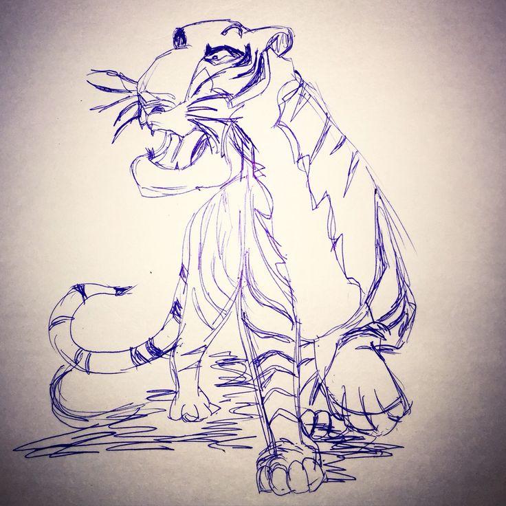 #tiger #jungle #art #disney #junglebook #mysketch