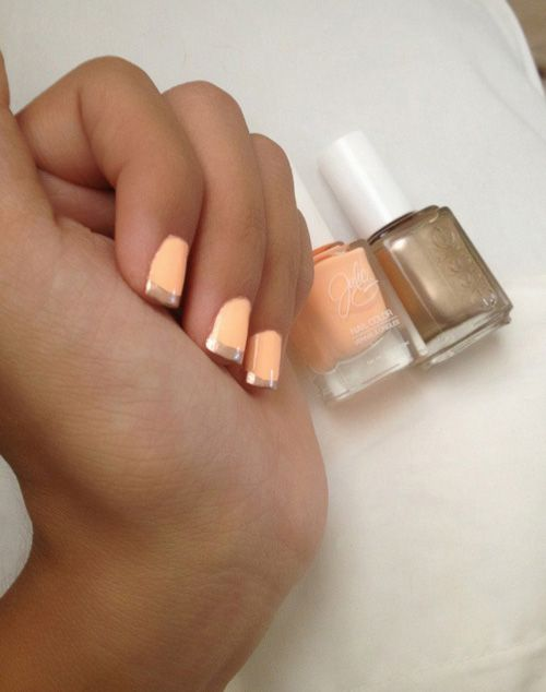 rose gold and peach.