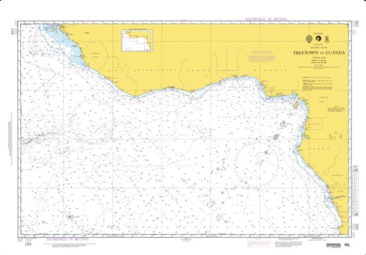 Freetown To Luanda (NGA-105) by National Geospatial-Intelligence Agency