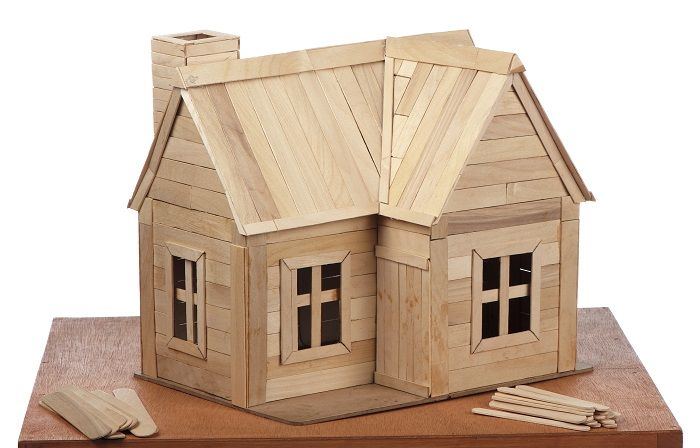 How to build a house out of lollipop sticks