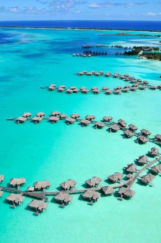 Spectacular Shot of Bora Bora Tahiti Island