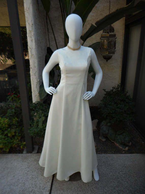 Vintage 1980's White Wedding Dress Size 10