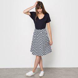 Printed Full Midi Skirt