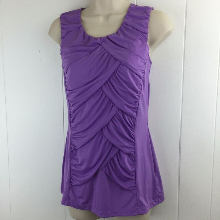 Cute Worthington Stretch Women S Small Lavender Ruched Top Sleeveless Stretchy Blouse Iheart Womens Clothes Fashion Pinterest