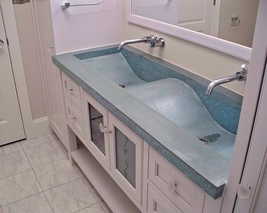 24 Best Integrated Concrete Sinks Images On Pinterest Concrete Countertops Bathroom