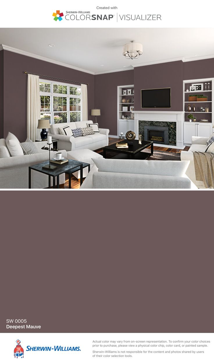 I found this color with ColorSnap® Visualizer for iPhone by Sherwin-Williams: Deepest Mauve (SW 0005).