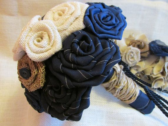 Hey, I found this really awesome Etsy listing at https://www.etsy.com/listing/221996422/navy-and-creme-rustic-fabric-flower