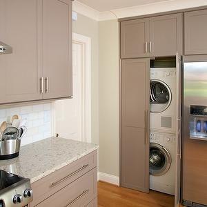 Hidden Laundry Room, Contemporary, laundry room, Twin Companies