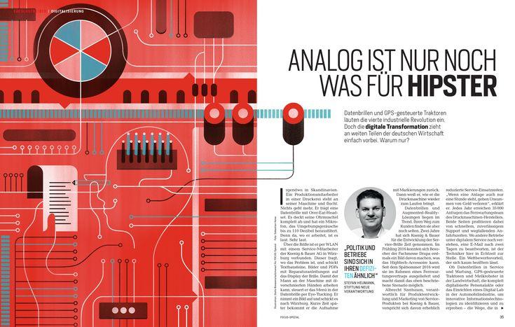 Giulio Bonasera - Industry 4.0 - Digital Transformations in German companies  for Focus Spezial Magazine #conceptual #illustration #editorial