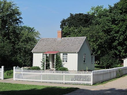 Herbert Hoover -birthplace cottage, West Branch, Iowa