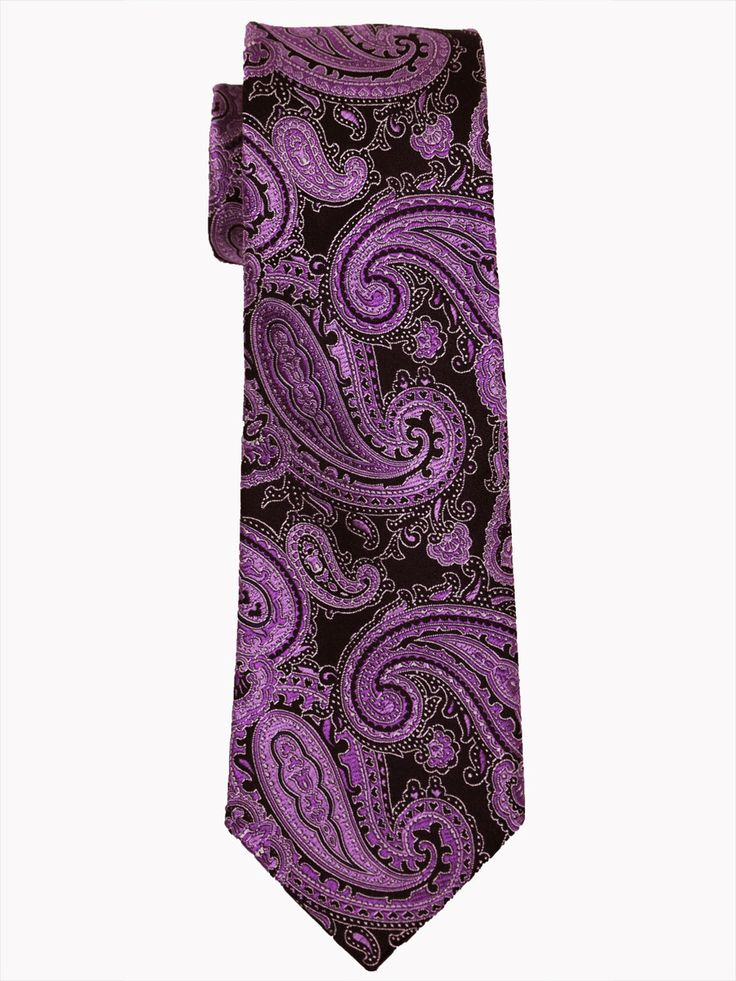 Boy's Tie 14480 Black/Purple