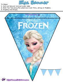 Elsa Banner | Free Printables for the Disney Movie Frozen | SKGaleana