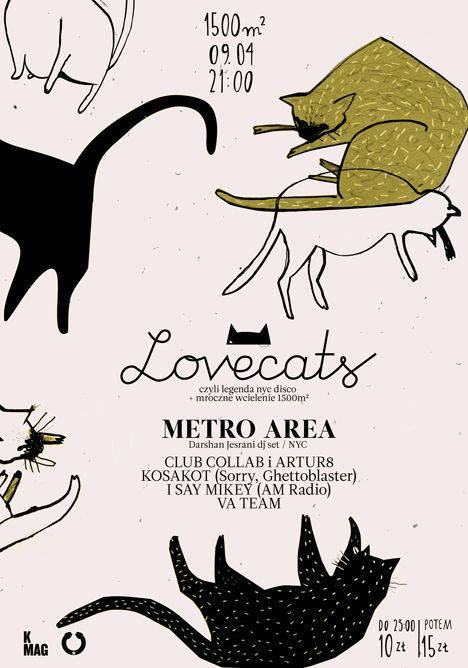 CLUBCOLLAB.COM » Blog Archive » LOVECATS : DARSHAN JESRANI (METRO AREA, NYC): Design Inspiration, Cat Art, Typography Posters, Illustrations Cat, Graphics Design, Crazy Cat Lady, Lovecat Posters, Bands Posters, Posters Typography