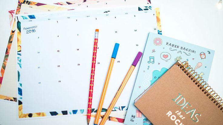 Planner mensal e semanal grátis para download                                                                                                                                                                                 Mais