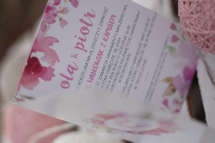 Zaproszenia z kwiatowym motywem