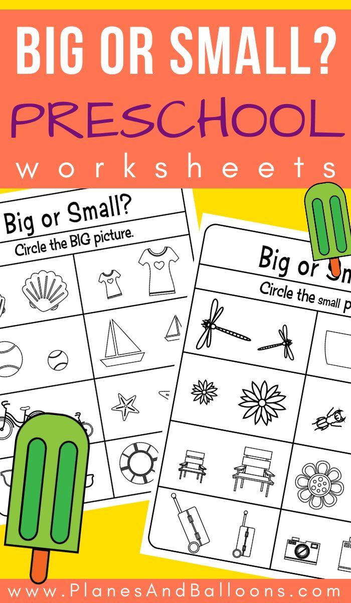 Big And Small Preschool Worksheets Kids Learning Activities Prek Math Activities Preschool Worksheets [ 1200 x 700 Pixel ]