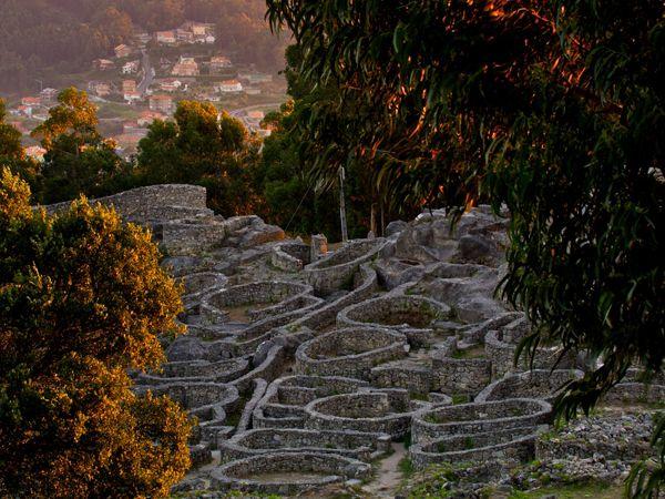 Celtic Galicia | Picture of the ancient Celtic village of Santa Tecla, Galicia