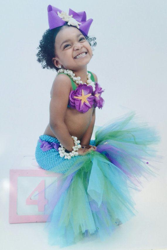 Mermaid Tutu Little Mermaid Mermaid Tail by willowlaneboutiques