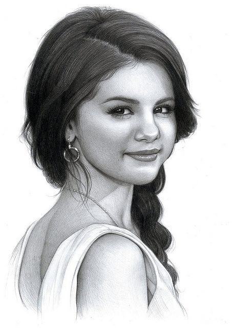 Selena Gomez drawing