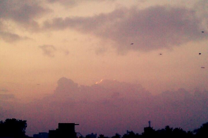 Serene sunset..