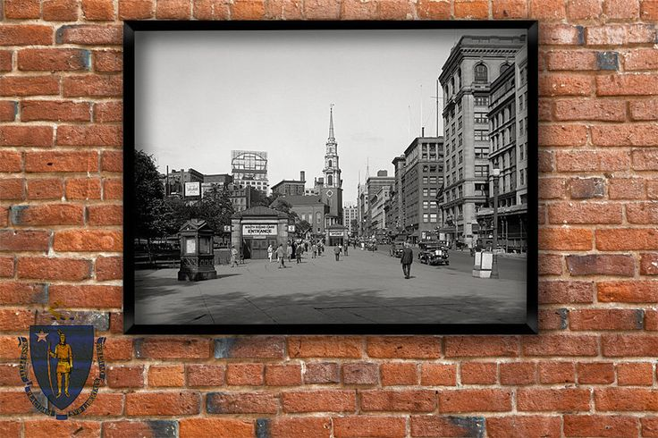 Historical Boston art print.Tremont Street and the mall, Boston MA., 1910.Archival print - Vintage black and white photo. by Chromatone on Etsy https://www.etsy.com/listing/172338826/historical-boston-art-printtremont