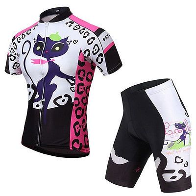 New Women's Cycling Clothing Sets Bike Bicycle short sleeve jersey Shorts Suits