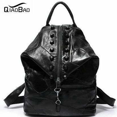 39.42$  Watch now - http://ali43l.shopchina.info/1/go.php?t=32360150661 - QIAOBAO Newest Patchwork shoulder bag leather backpack European and American fashion Backpack Travel Bag 39.42$ #SHOPPING