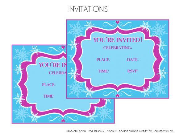 Free Printable Frozen Invitations  | CatchMyParty.com