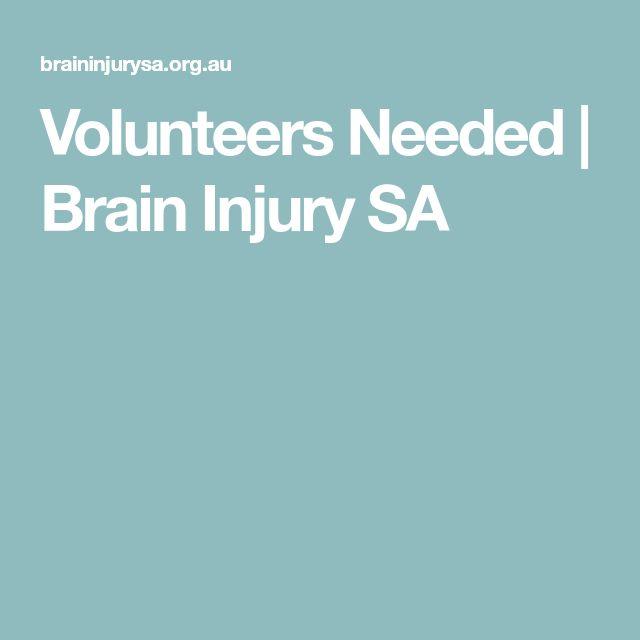 Volunteers Needed | Brain Injury SA