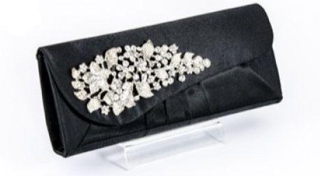 Koko Black Diamante Crystal Evening Clutch Bag