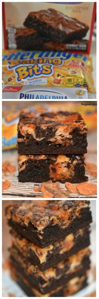 Butterfinger Cheesecake Bars - Hugs and Cookies XOXO