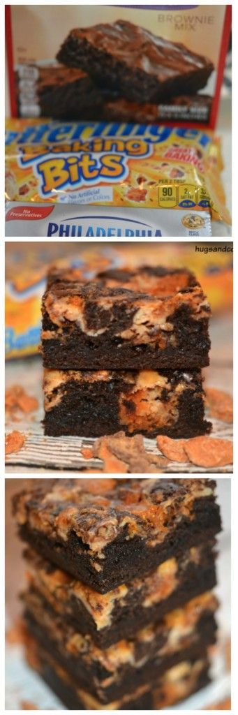 Butterfinger Cheesecake Bars - Hugs and Cookies XOXO