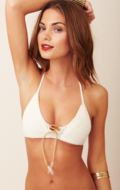 Beauty & The Beach Penny Lane Crochet Bikini Top