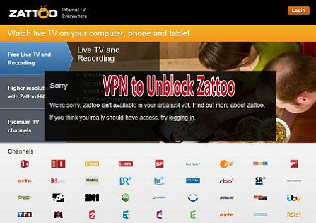 Zattoo is only available for 6 countries which are UK, Denmark, Spain, Germany, France and Switzerland.So, to access to Zattoo you have to find a VPN service which provide VPN servers that connect to those 6 countries. We have tested almost all the top VPN for Zattoo and Here we recommend you to subscribe the best Zattoo VPN for live web TV.  http://www.bestvpnserver.com/enjoy-zattoo-for-live-tv-with-vpn-unblock-zattoos-geo-restriction/