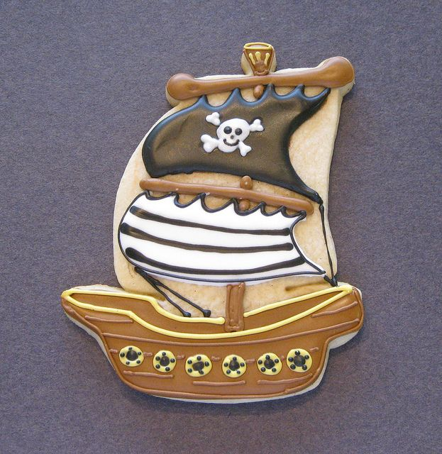 Pirate Ship Cookie