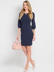 Платье Stets  Трикотажное платье прилегающего силуэта с рукавами 3/4.. Платье Stets промокоды купоны акции.