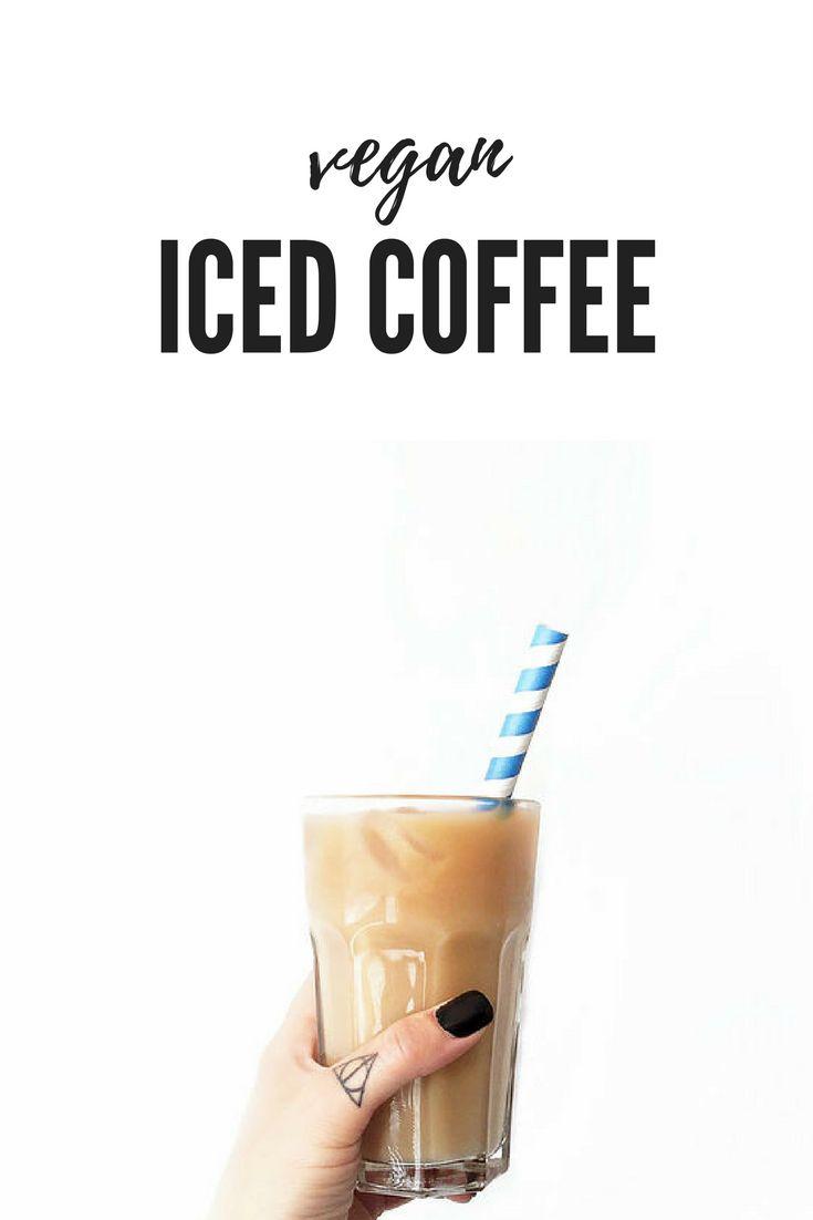 Vegan Iced Coffee  Find more vegan recipes on www.romylondonuk.com