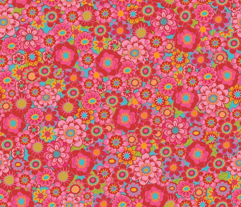 Flower Fireworks fabric by simply_colours on Spoonflower - custom fabric